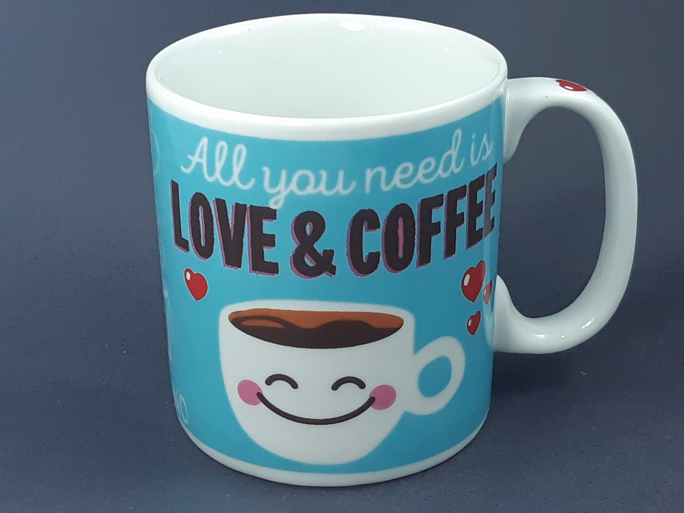Caneca All You Need is Love e Coffee  325 ml