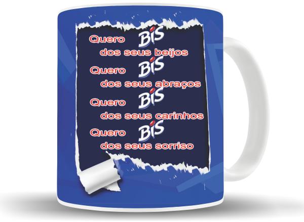 Caneca Bis Azul