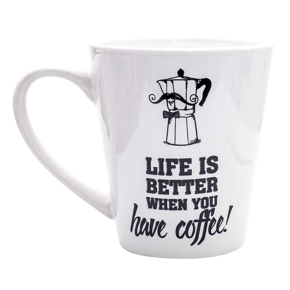 Caneca Cônica - Life is Better When You Have Coffee 330 ml
