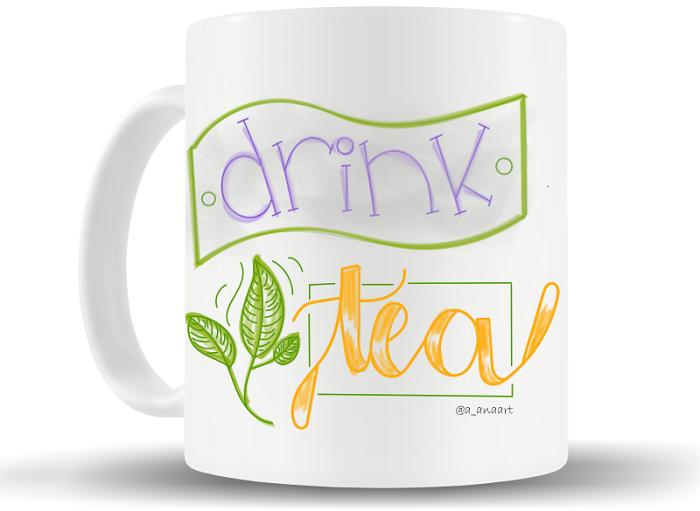 "Caneca ""Drink tea"""