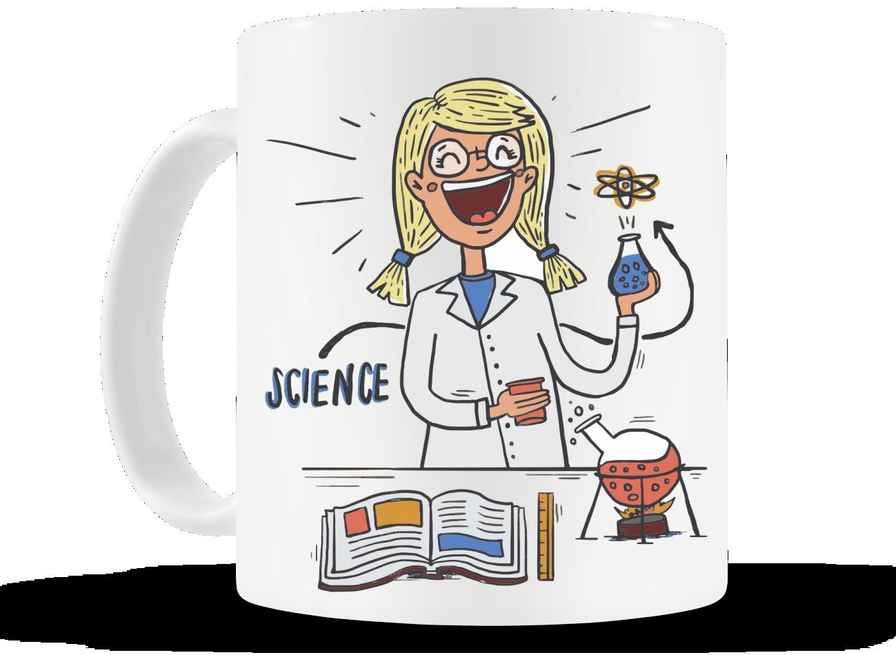 Caneca I love Science - Feminino