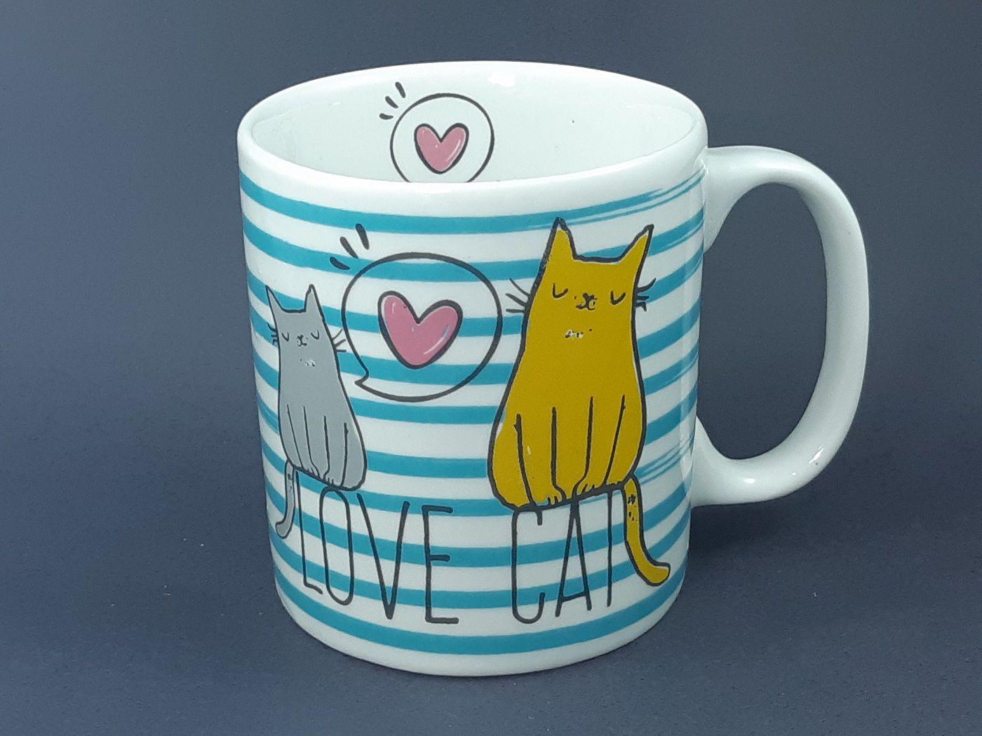 Caneca Love Cat  325 ml