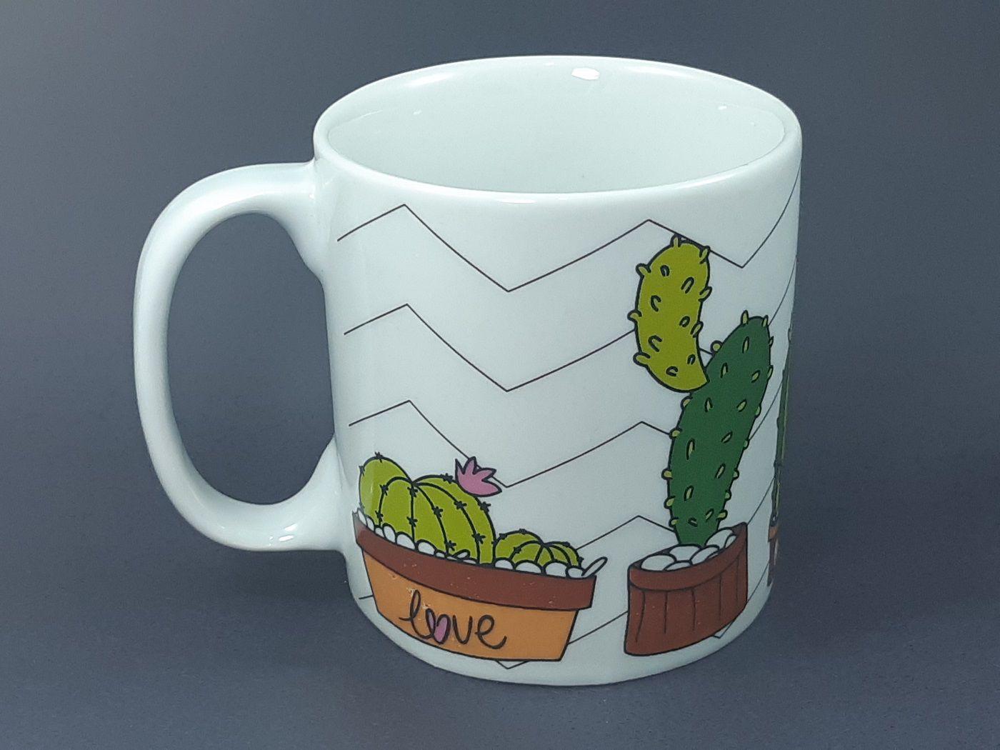 Caneca Só Sei Cuidar de Cactus  325 ml