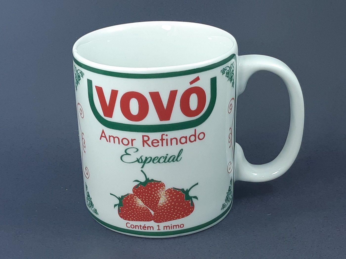 Caneca Vovó Amor Refinado  325 ml