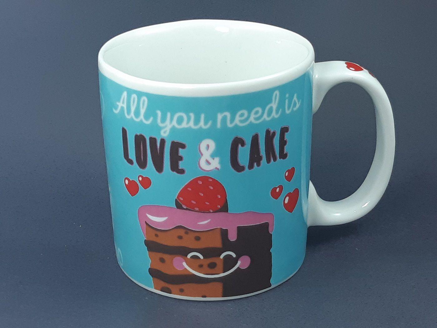 Caneca All You Need is Love e Cake 325 ml