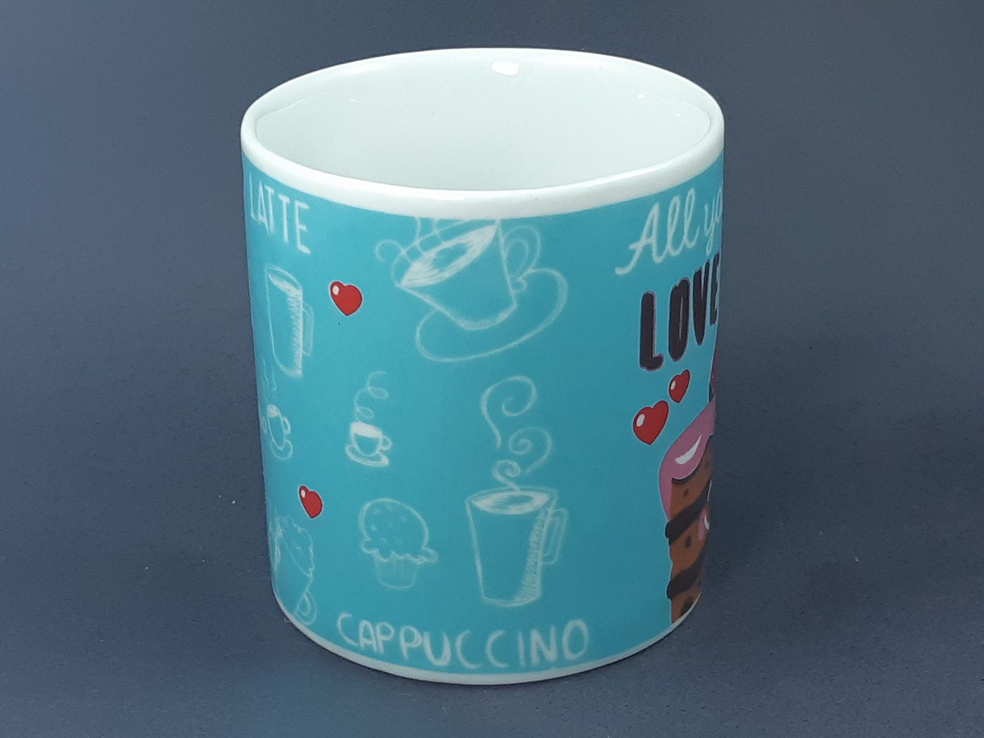 Caneca All You Need is Love e Cake 325 ml
