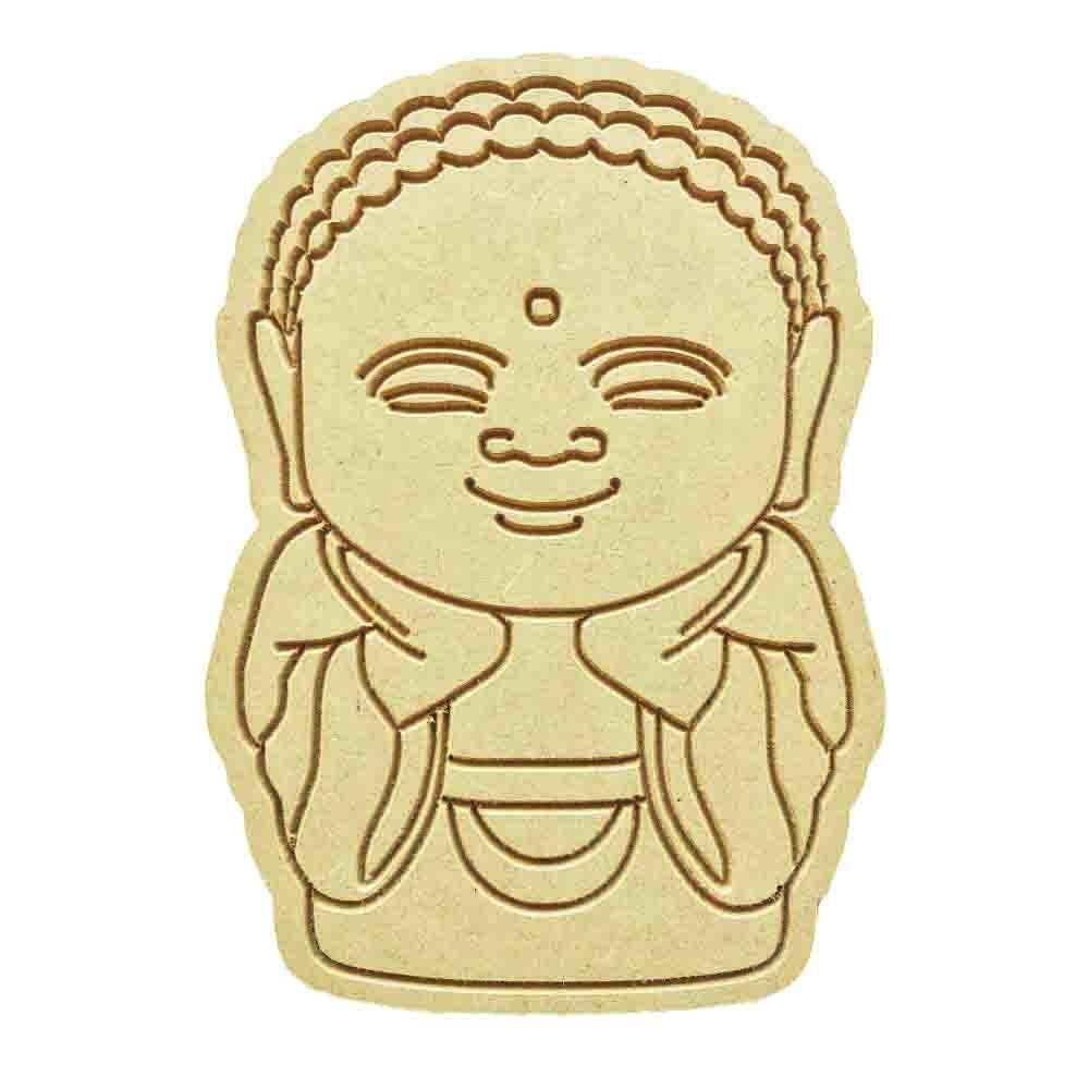 Buda em Mdf Cru 15xh21cm para Pintar