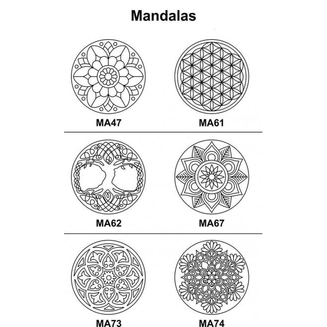 Kit 2 peças Mandala Mdf Cru 23cm de Diâmetro para Pintar