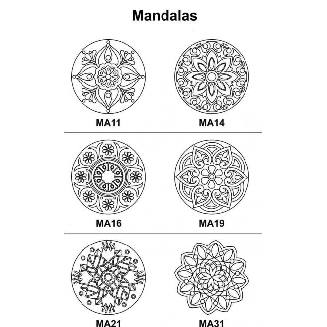 Kit 3 peças Mandala Mdf Cru 33cm de Diâmetro para Pintar
