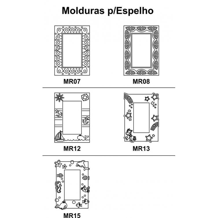 Kit 4 peças Moldura para Espelho em Mdf Cru 41xh58cm para Pintar
