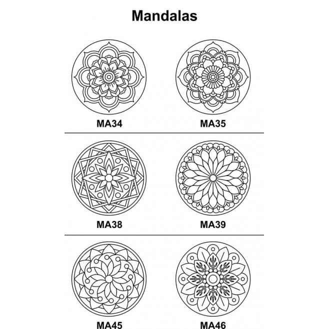 Kit 5 peças Mandala Mdf Cru 23cm de Diâmetro para Pintar