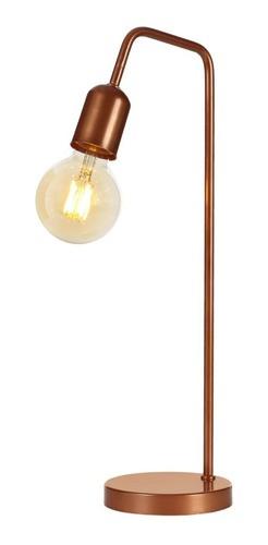 Luminária De Mesa Abajur Retrô Vintage + Lâmpada