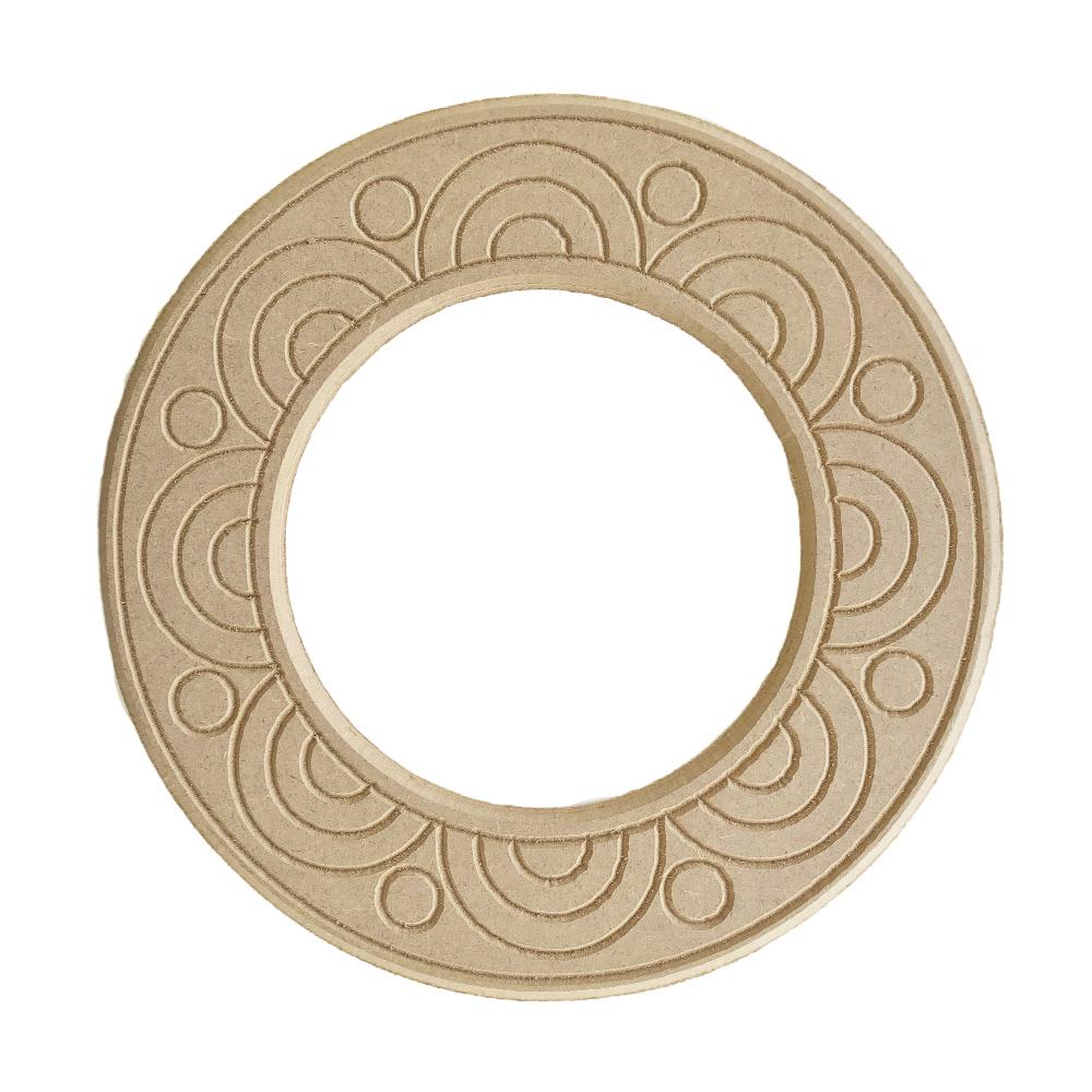 Mandala para Espelho Mdf Cru 33cm de Diâmetro para Pintar
