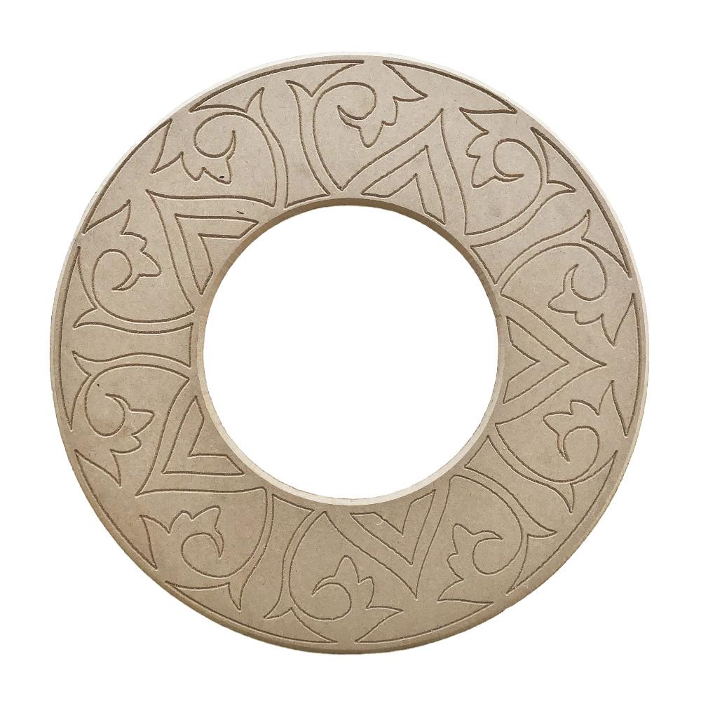 Mandala para Espelho Mdf Cru 53cm de Diâmetro para Pintar