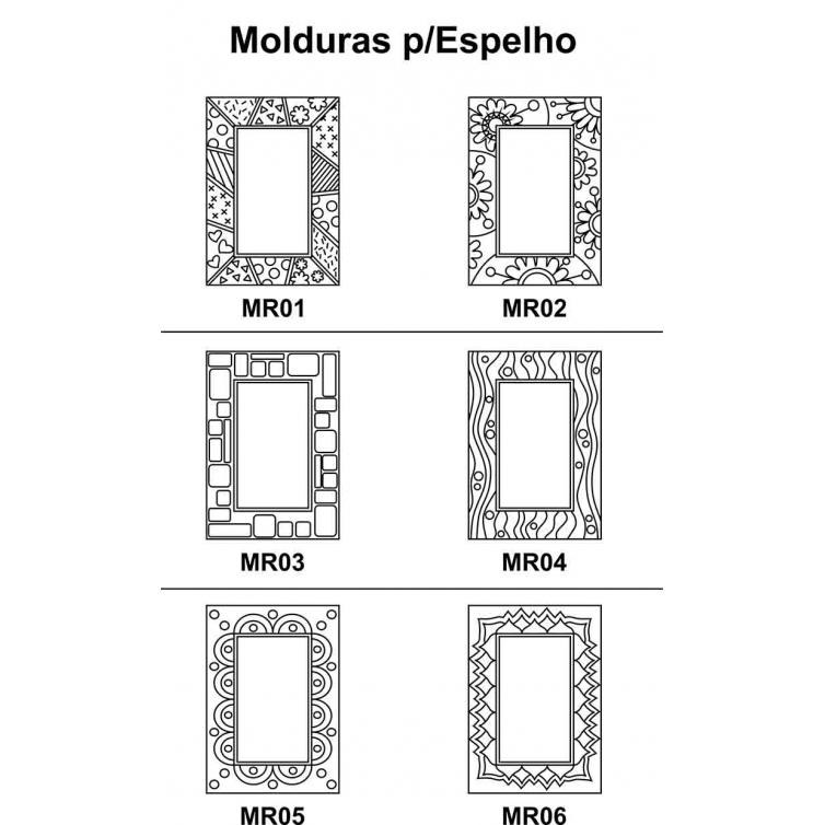 Moldura para Espelho em Mdf Cru 41xh58cm para Pintar