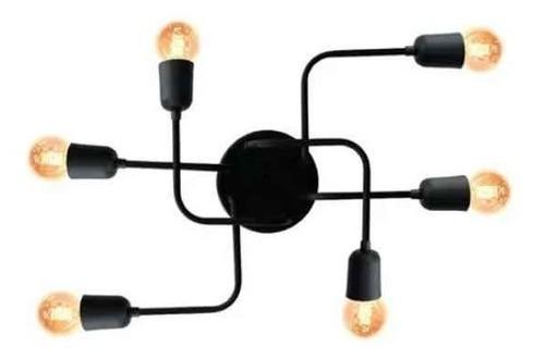 Plafon Luminária Aranha 6 Lâmpadas Com Lâmpadas Led Inclusas
