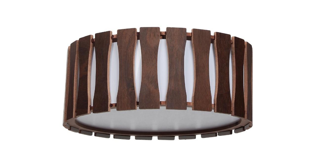 Plafon Madeira Ripado Redondo 35x35cm