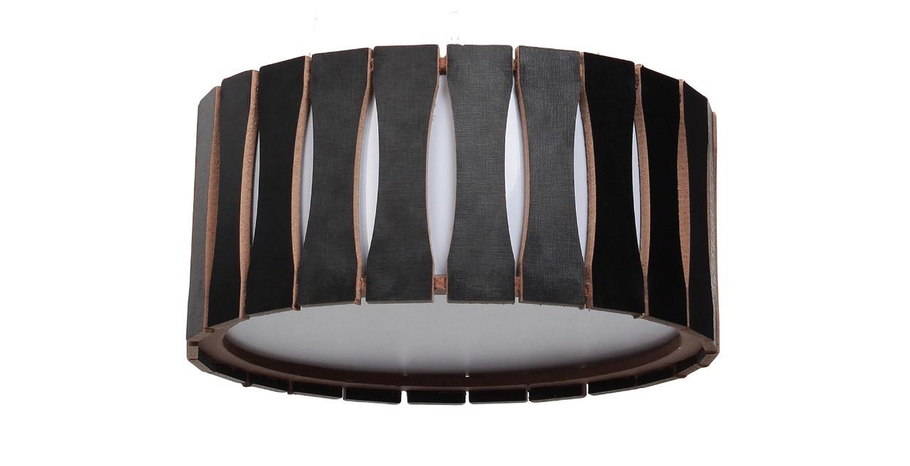 Plafon Madeira Ripado Redondo 40x40cm