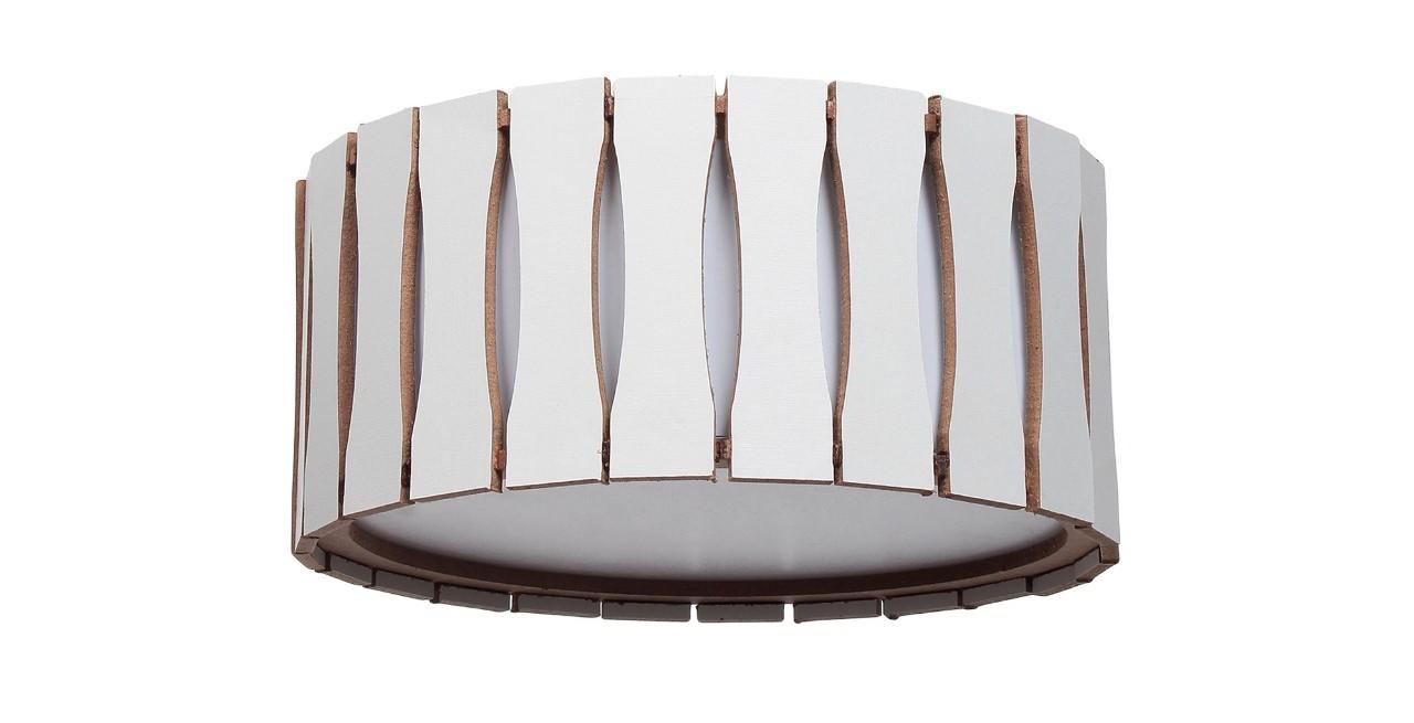 Plafon Madeira Ripado Redondo 50x50cm