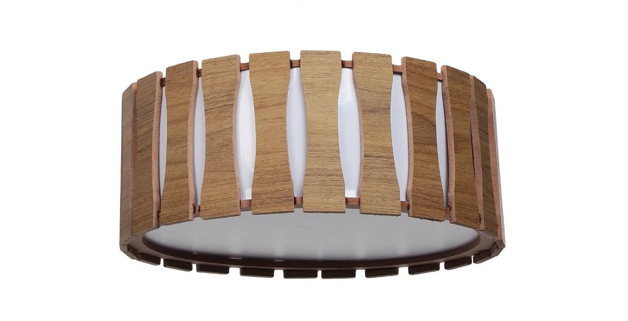 Plafon Madeira Ripado Redondo 60x60cm