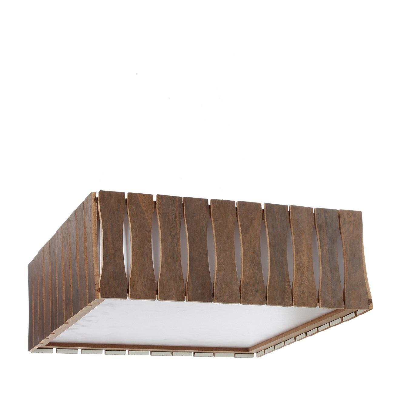 Plafon Madeira Ripado Quadrado 40x40cm