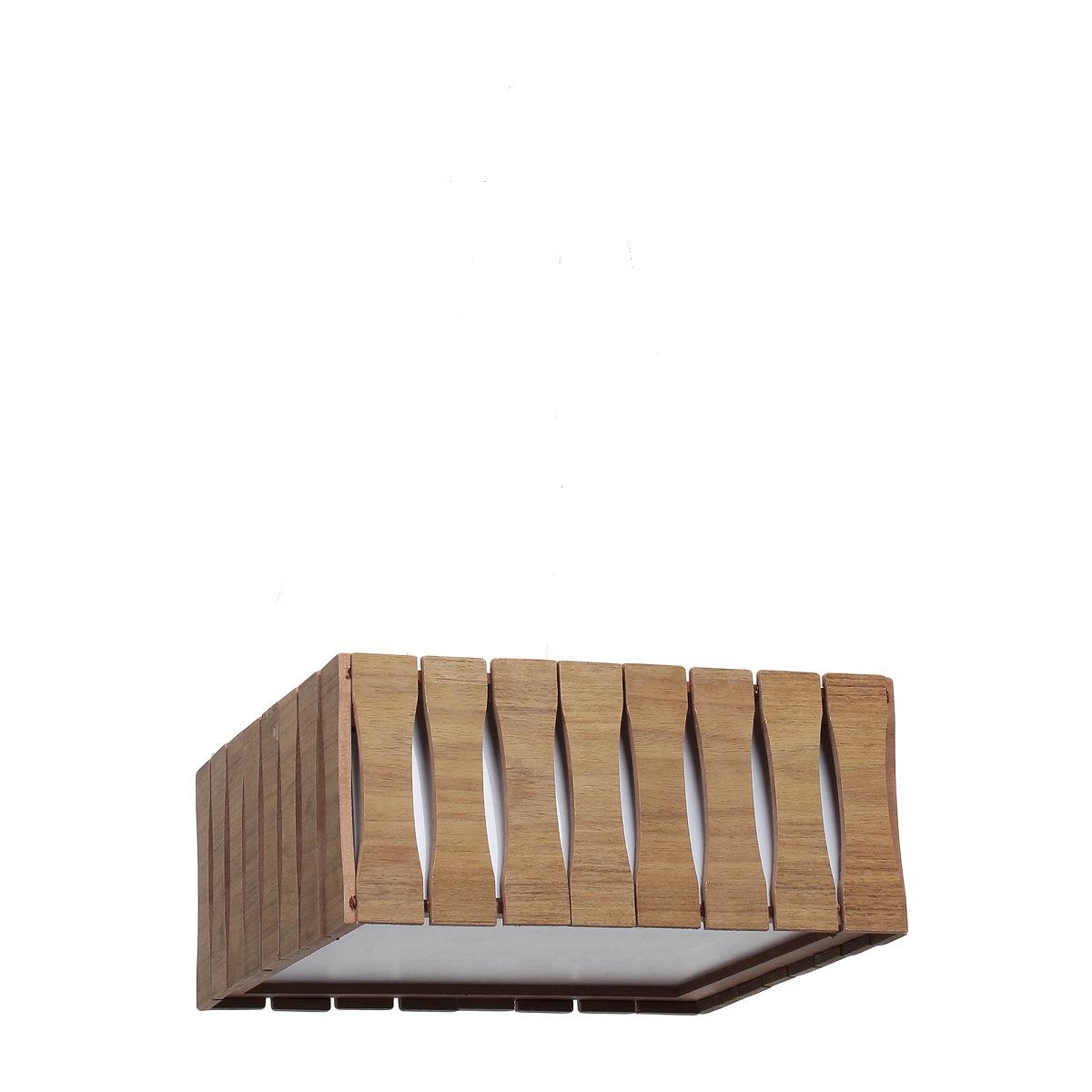 Plafon Madeira Ripado Quadrado 60x60cm