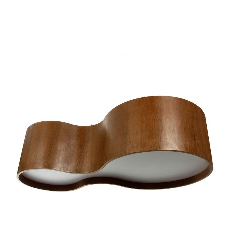Plafon Semi Cilíndrico Madeira 70cm