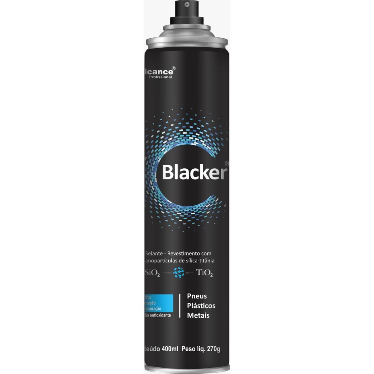 Blacker Selante - Revestimento para Pneus, Plásticos e Metais - Alcance - 400ml