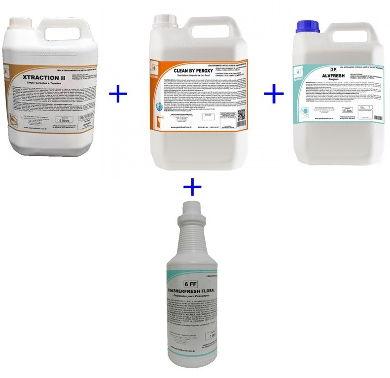 Kit Xtraction 5L / Alvfresh 5L / Floral 1L / Clean By Peroxy 5L  - HIDRORIO
