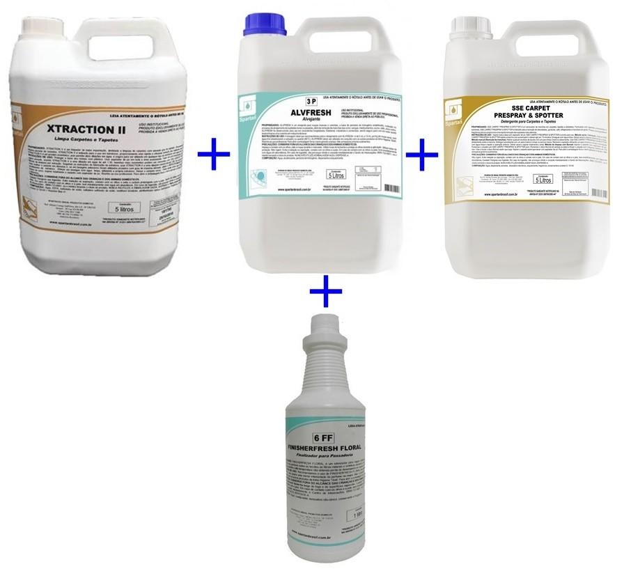 Kit Xtraction 5L / Alvfresh 5L / Floral 1L / Sse Carpet 5L  - HIDRORIO