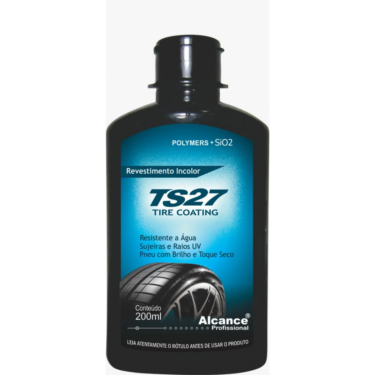 TS27 Revest. trasnp. brilho seco p/ pneus 200ml  - HIDRORIO