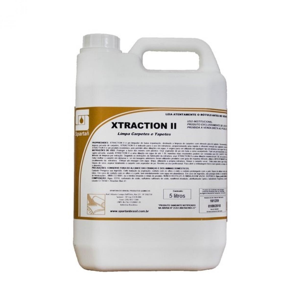 XTRACTION II - Limpador de Carpete e Estofados - Spartan - 5L  - HIDRORIO