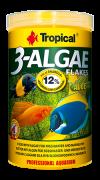 RAÇÃO TROPICAL 3-ALGAE FLAKES - Pote 20 gr