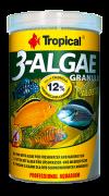 RAÇÃO TROPICAL 3-ALGAE GRANULAT - Pote 44 gr