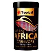 RAÇÃO TROPICAL SOFT LINE AFRICA CARNIVORE - Pote 130 gr