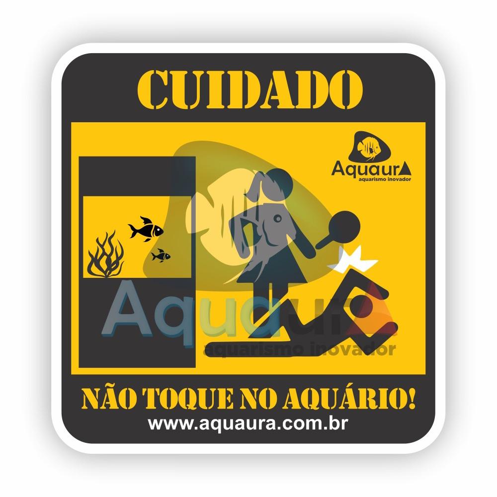 ADESIVO NÃO TOQUE NO AQUÁRIO - ESPOSA BRIGANDO