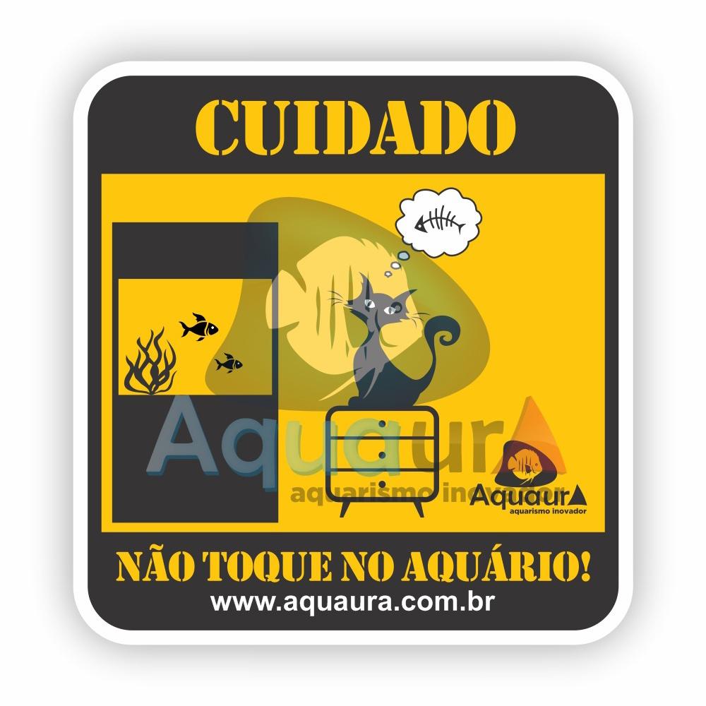 ADESIVO NÃO TOQUE NO AQUÁRIO - GATO