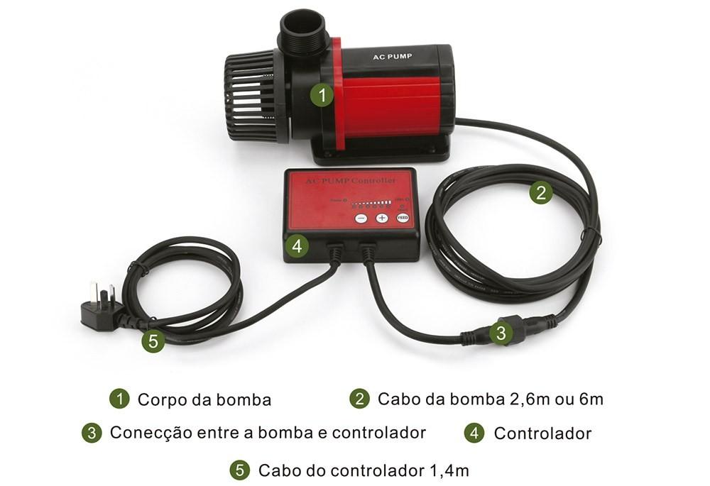 BOMBA SUBMERSA AC-6000 - OCEAN TECH - 110 Volts - 6000 l/h