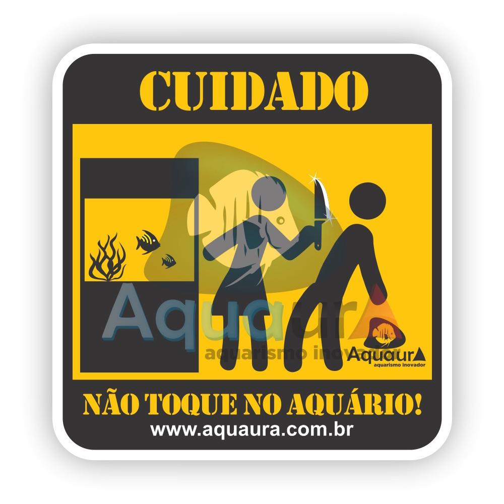 ADESIVO NÃO TOQUE NO AQUÁRIO - ESPOSA COM FACA
