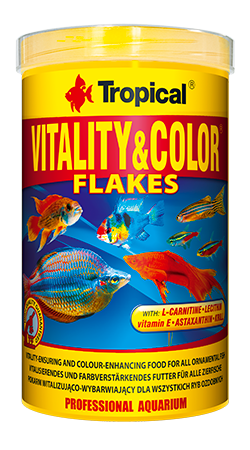 RAÇÃO TROPICAL VITALITY & COLOR FLAKES - Pote 20 gr