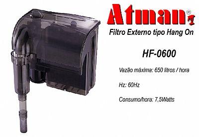 FILTRO EXTERNO ATMAN HF-0600 - 650 L/H - 220 Volts