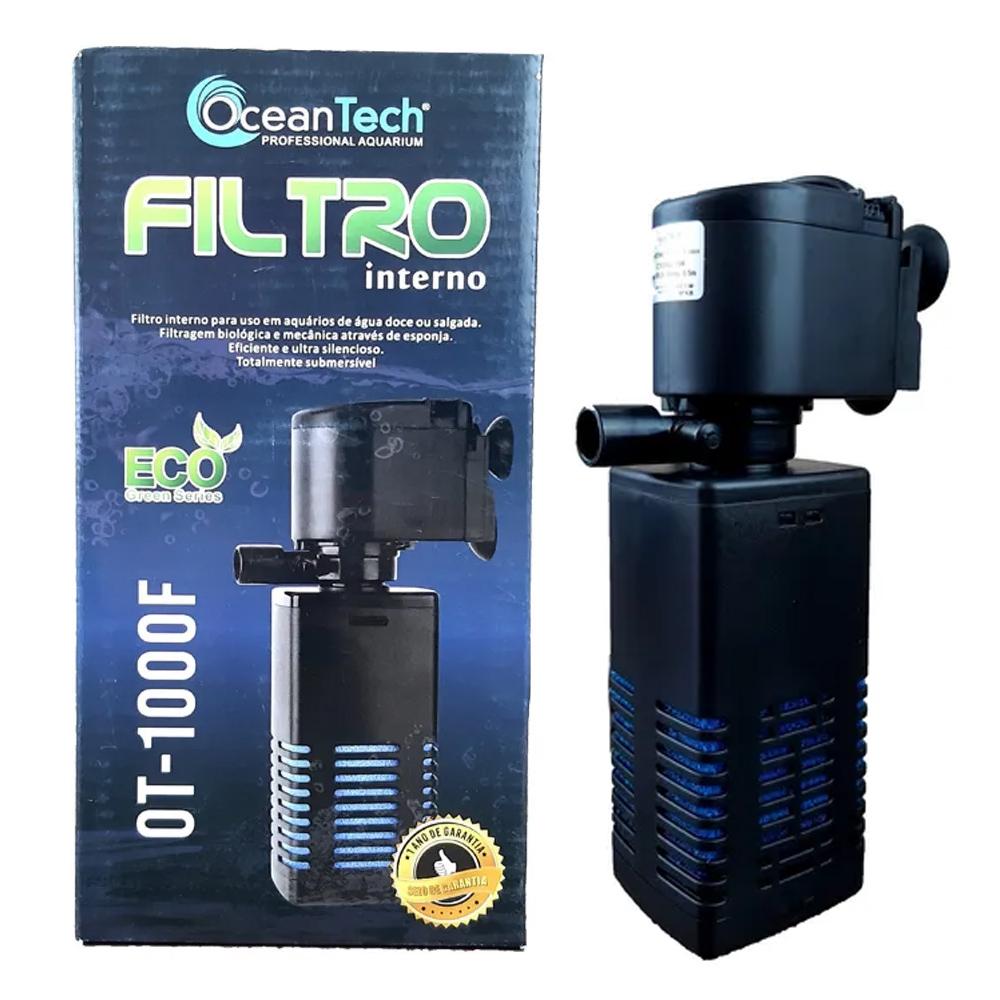 FILTRO INTERNO OCEAN TECH 650 L/H - 110 Volts (Modelo OT-1000F)
