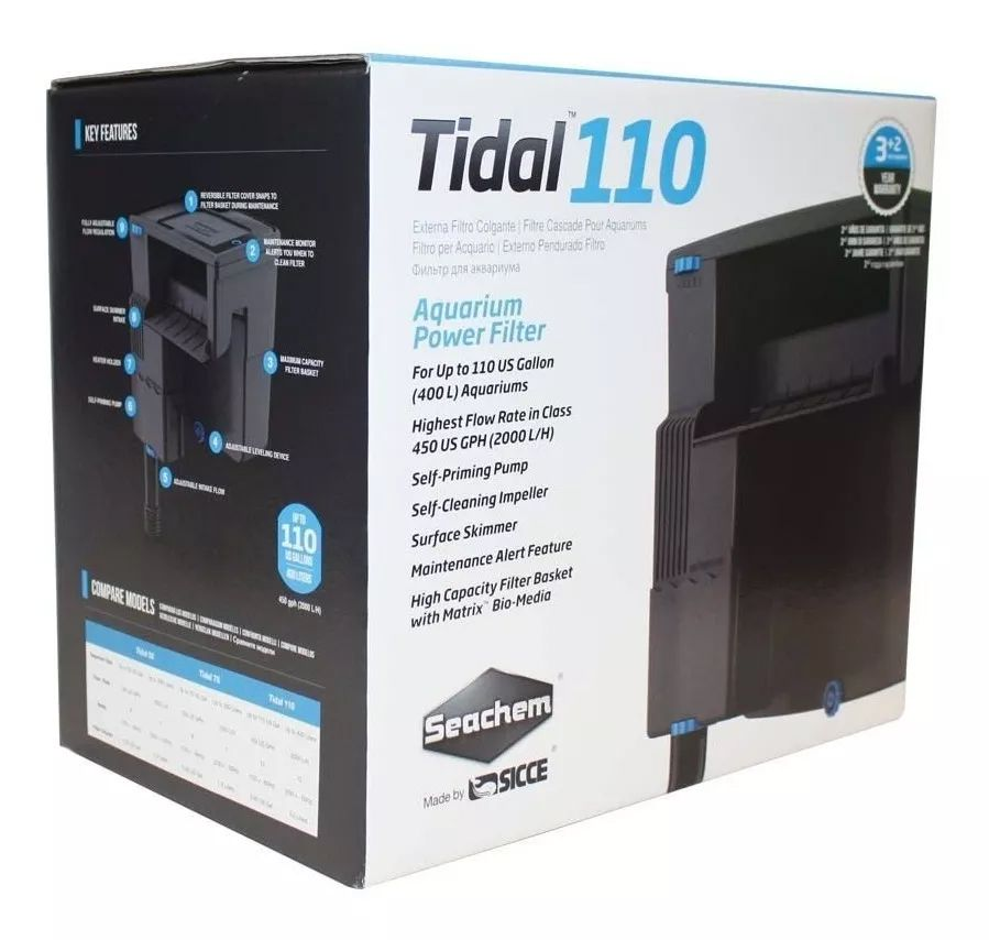 FILTRO EXTERNO HANG ON SEACHEM TIDAL 110 - 110 VOLTS