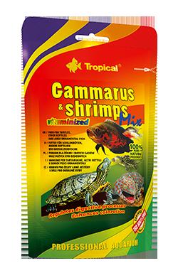 RAÇÃO TROPICAL GAMMARUS & SHRIMP MIX - Doypack 130 gr