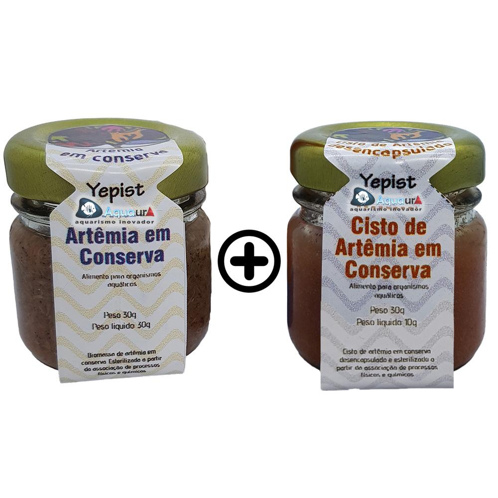 KIT ARTÊMIA + CISTO DE ARTÊMIA EM CONSERVA YEPIST - 30 gr (cada)