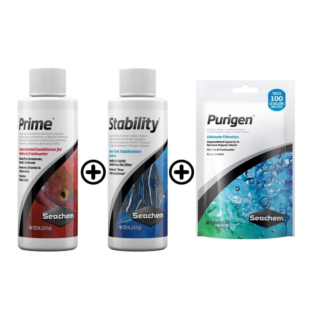 KIT SEACHEM PRIME + STABILITY + PURIGEN - 100 ml