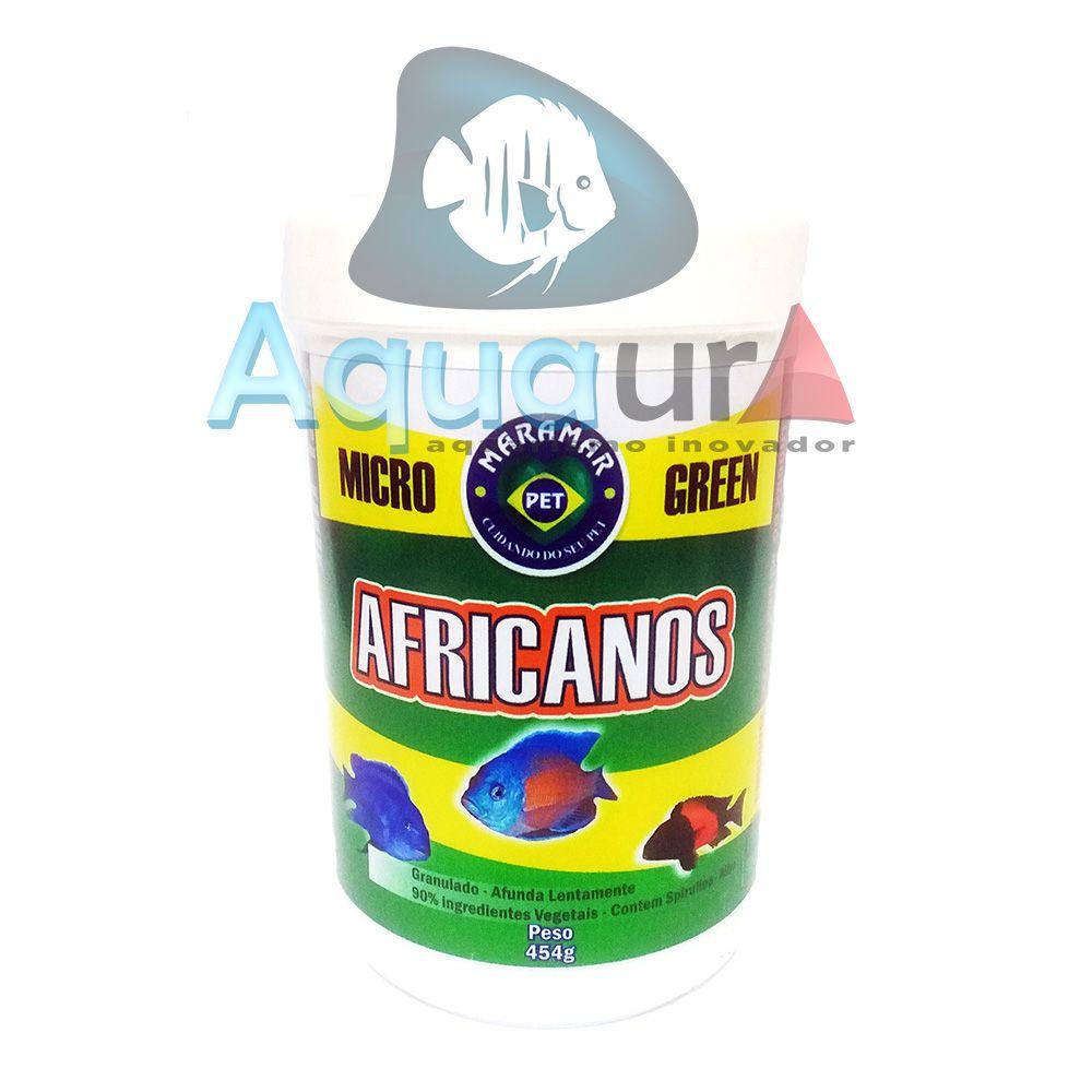 RAÇÃO MARAMAR AFRICANOS MICROGREEN  - Pote 454 gr
