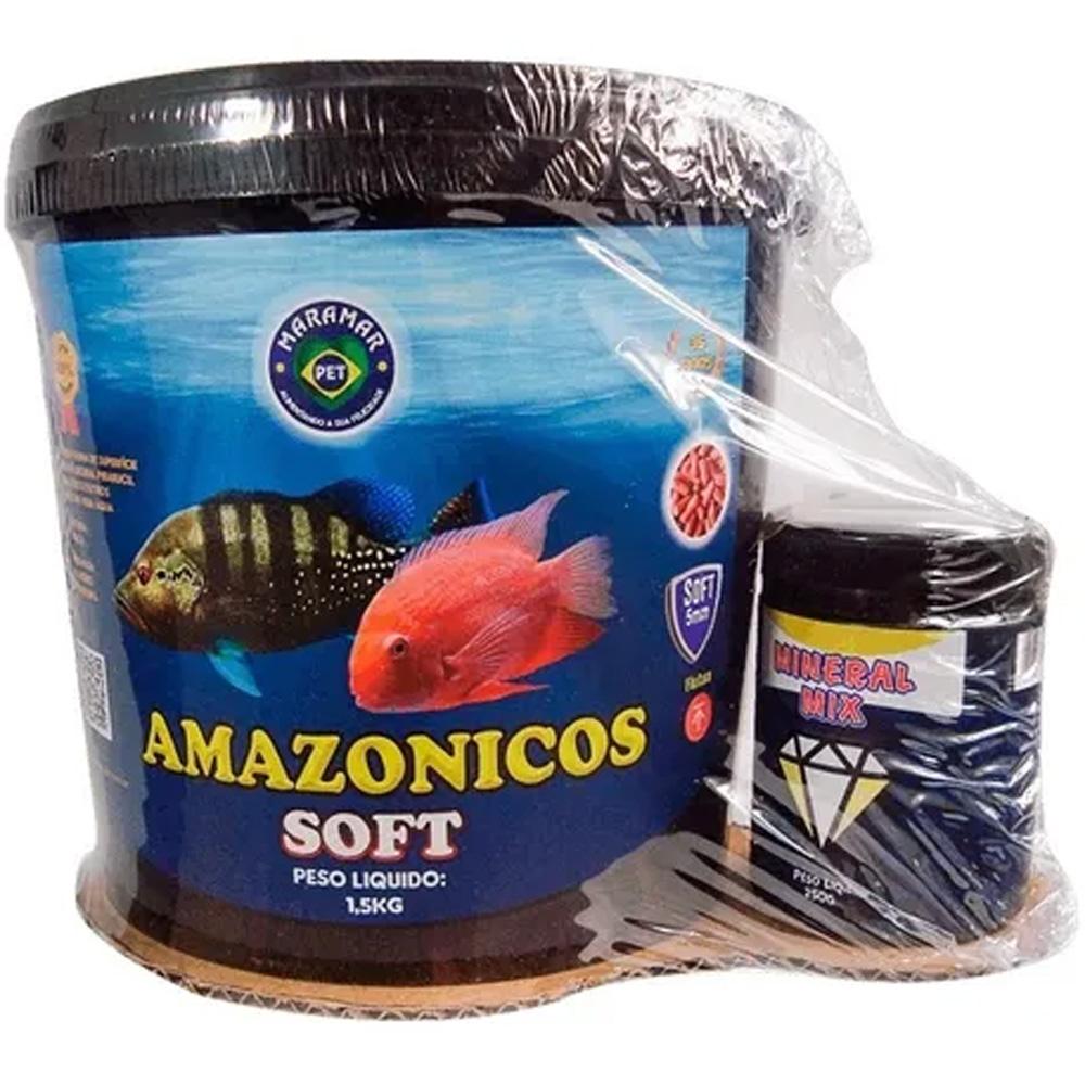 RAÇÃO MARAMAR AMAZÔNICOS SUPERFÍCIE SOFT - Balde 1,5 kg