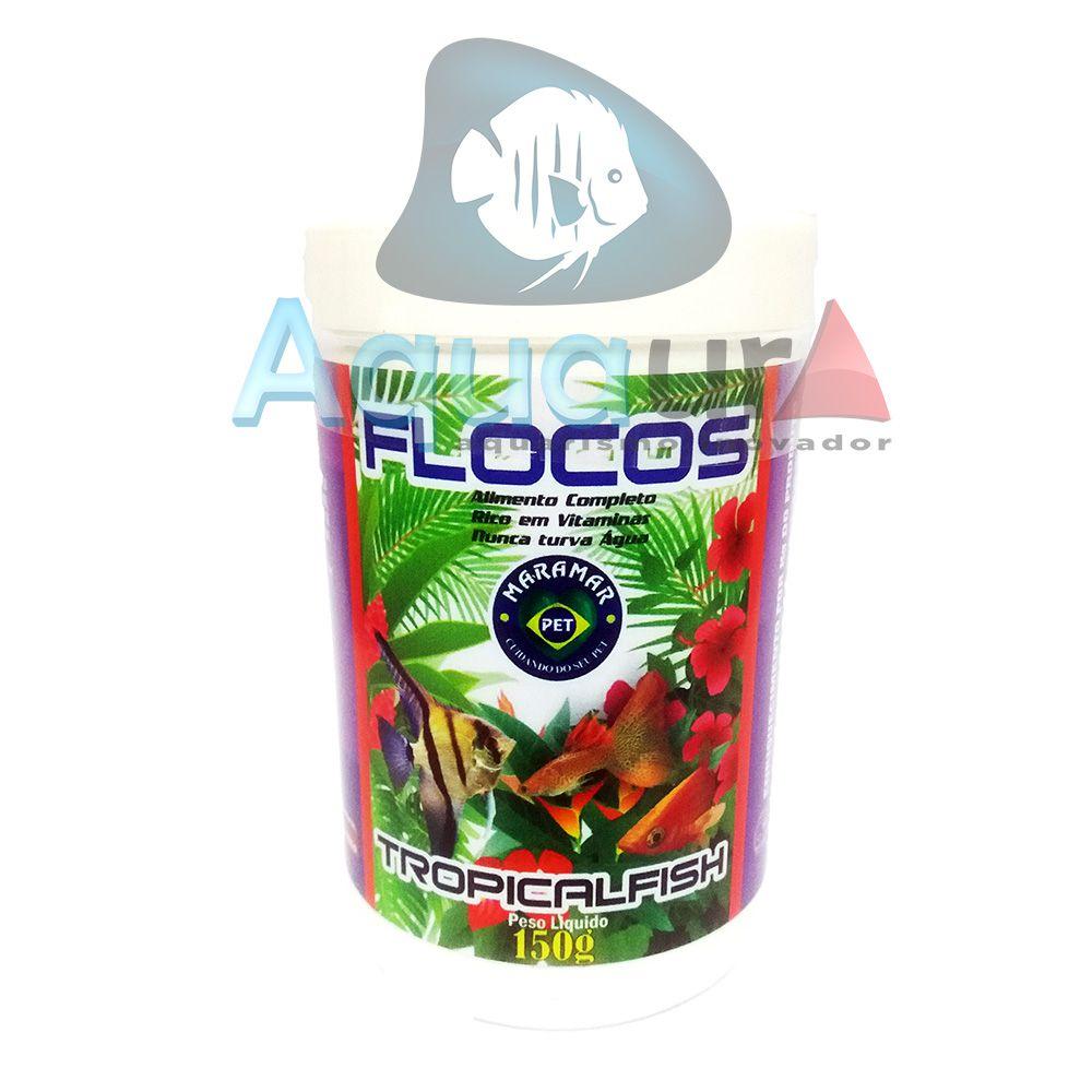 RAÇÃO MARAMAR FLOCOS TROPICAL FISH - Pote 150 gr
