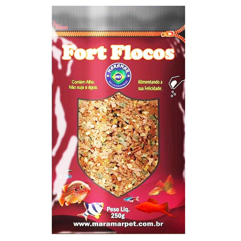 RAÇÃO MARAMAR FORT FLOCOS - Bag 250 gr